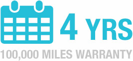 4 Years unlimited mileage warranty