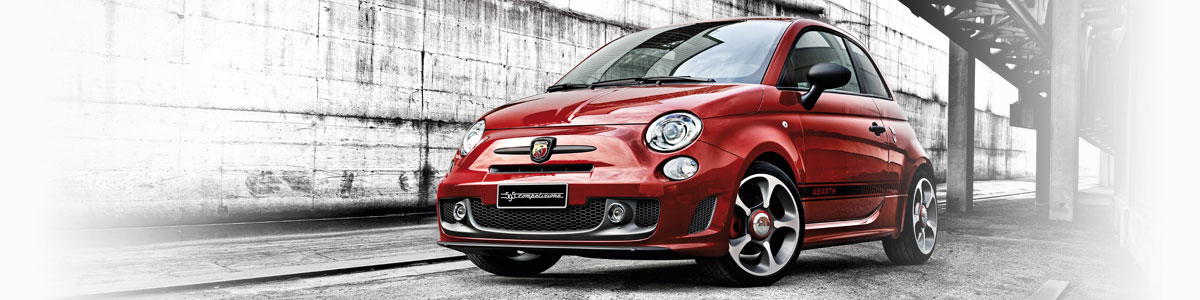Abarth car in a city
