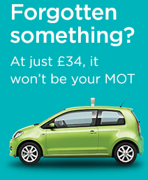 Forgotten something? At just £34 it won't be your MOT