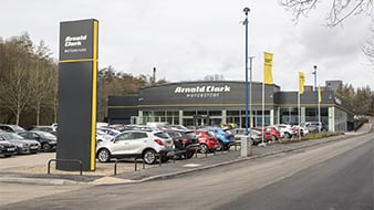Photograph showing the entrance of Arnold Clark Bolton Motorstore