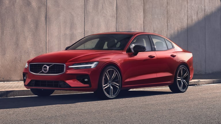 Red Volvo S60.