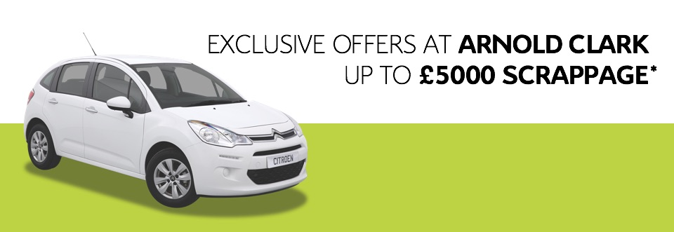 Exclusive Citroen offers at Arnold Clark up to £5,000 scrappage